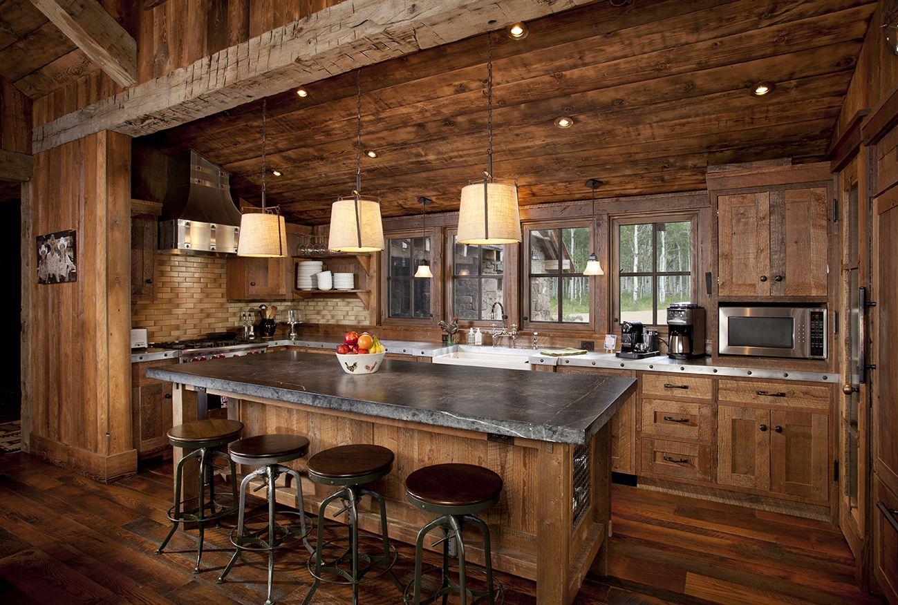 Wasatch County Estate 9   Estate Homes   Log home kitchens, Log ...