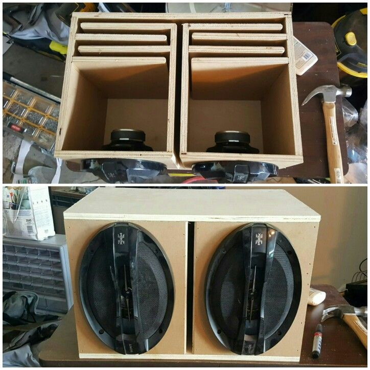 Had a pair of 6x9 speakers laying around so i threw together