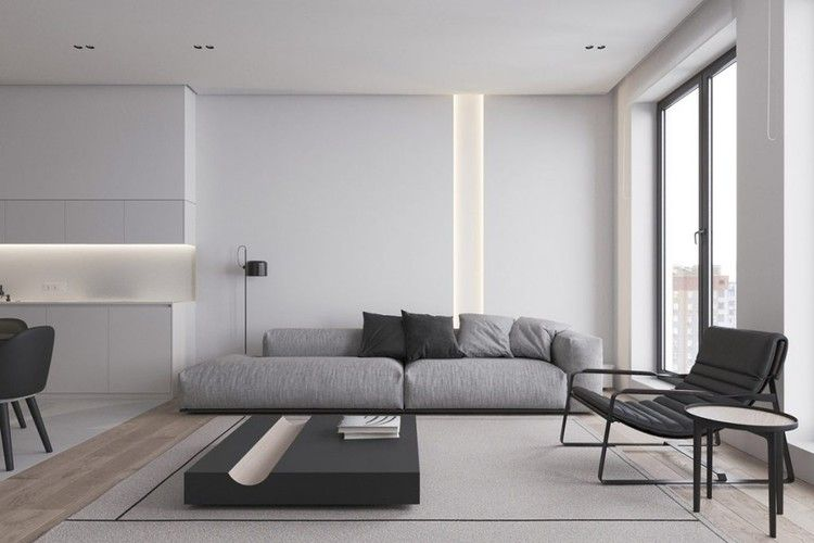 Taking Black And White Decor From Basic To Bold Home Designing Monochrome Living Room Contemporary Furniture Design Interior