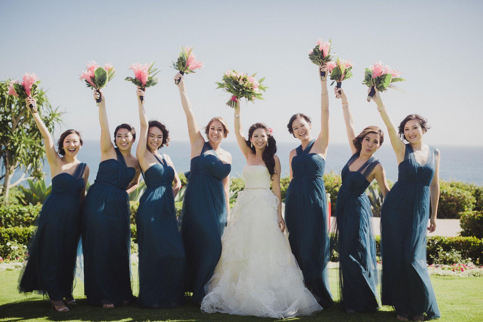 Lapis blue jenny yoo annabelle bridesmaid dresses with tropical lapis blue jenny yoo annabelle bridesmaid dresses with tropical flowers a montage hotel wedding in laguna ombrellifo Images