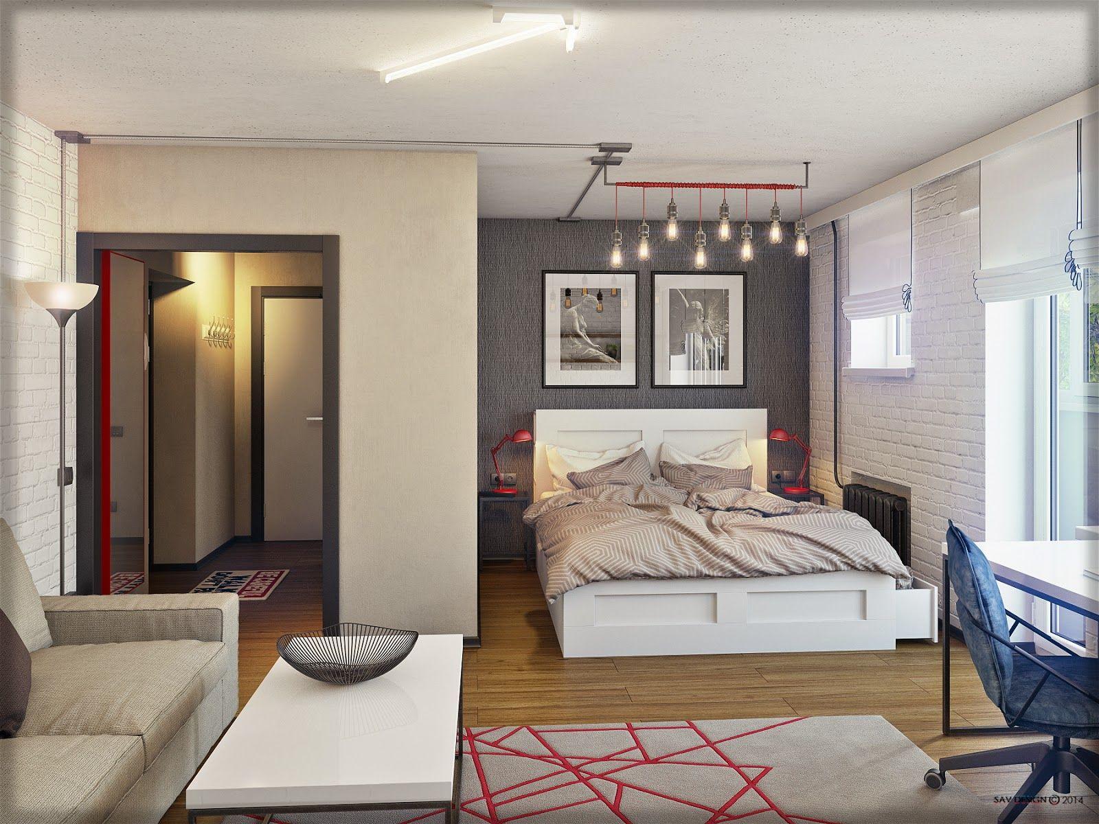 дизайн квартиры однокомнатной 7