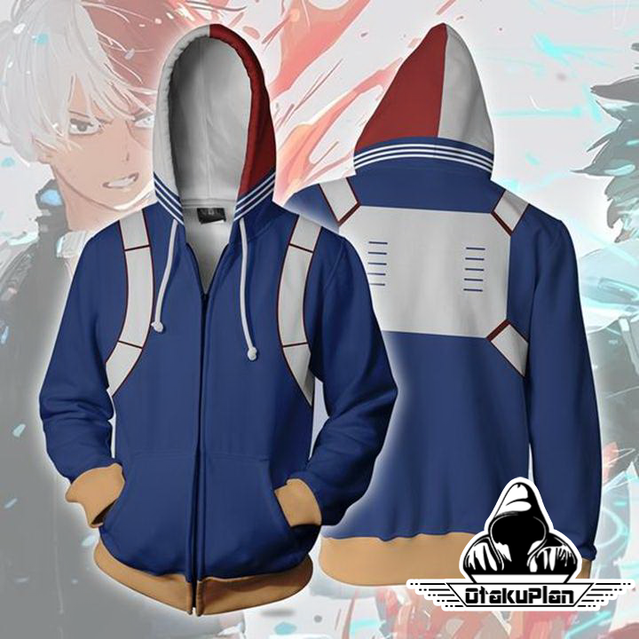 91693e81a My Hero Academia Hoodies - Shoto Todoroki Boku No Hero Academia Zip Up  Hoodie Jacket