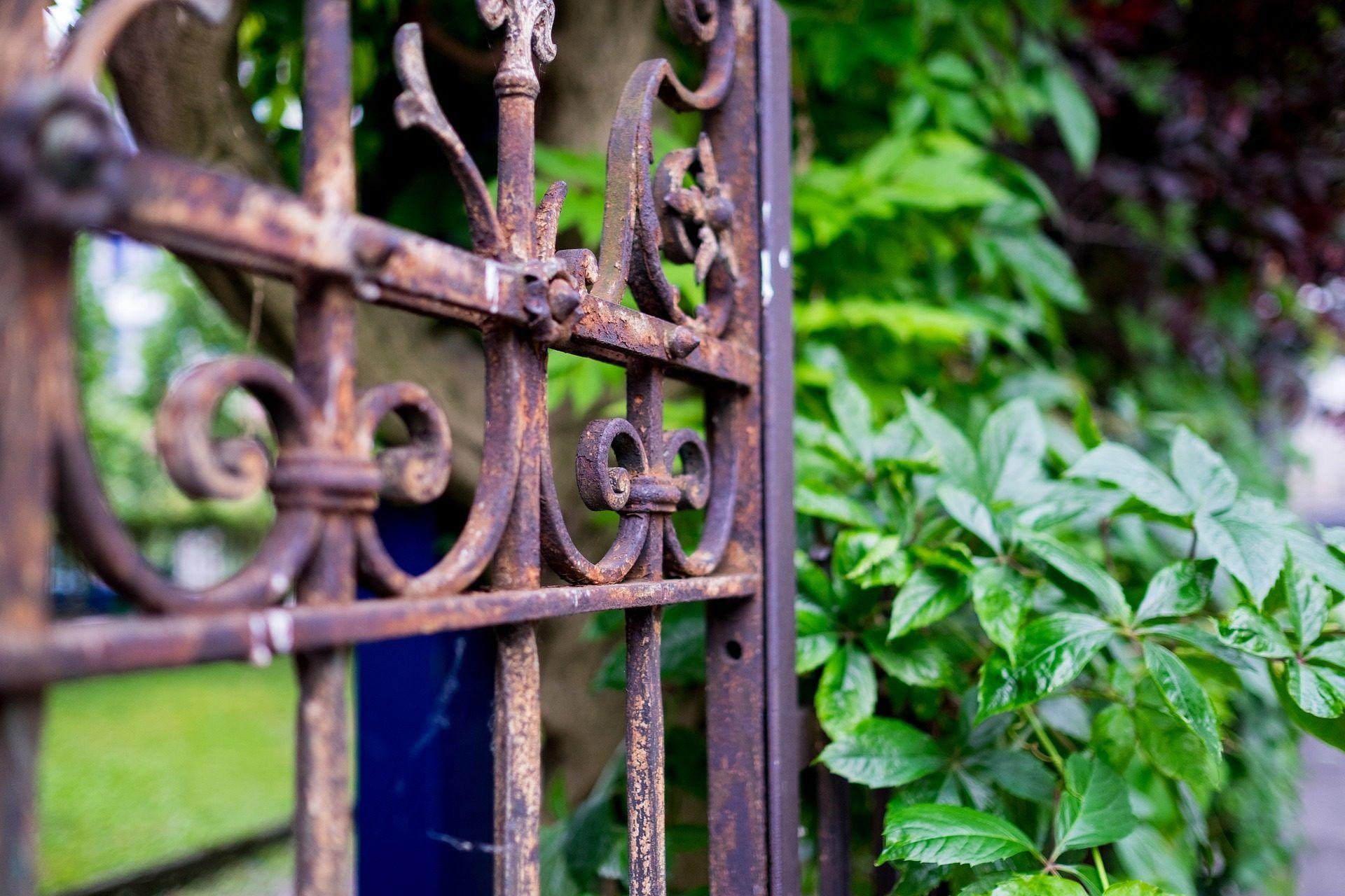 verja, reja, vieja, oxidada, jardín, 1707301331 | Verjas, Oxidado, Viejitos