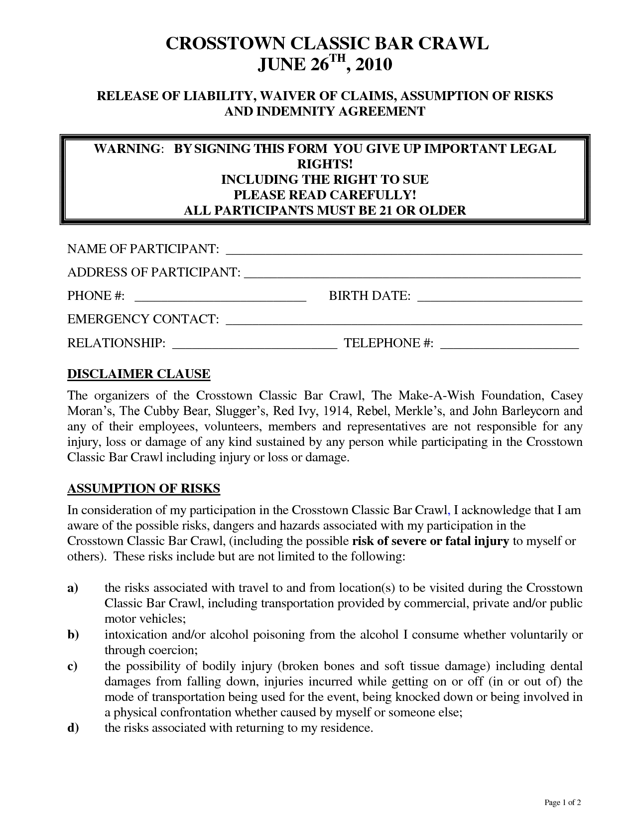 Sample Waiver Form  Coloring Pages  Sample Waiver  Legal