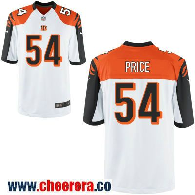 new product 0af3e 858d9 Men's Cincinnati Bengals #54 Billy Price White Road Stitched ...
