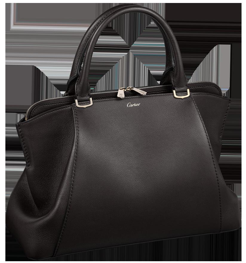 Black Handbag Cartier Png Clip Art Bags Black Handbags Leather