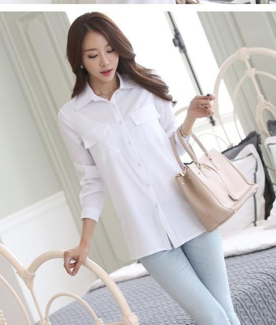 Woman Long Sleeve Shirt Work Wear