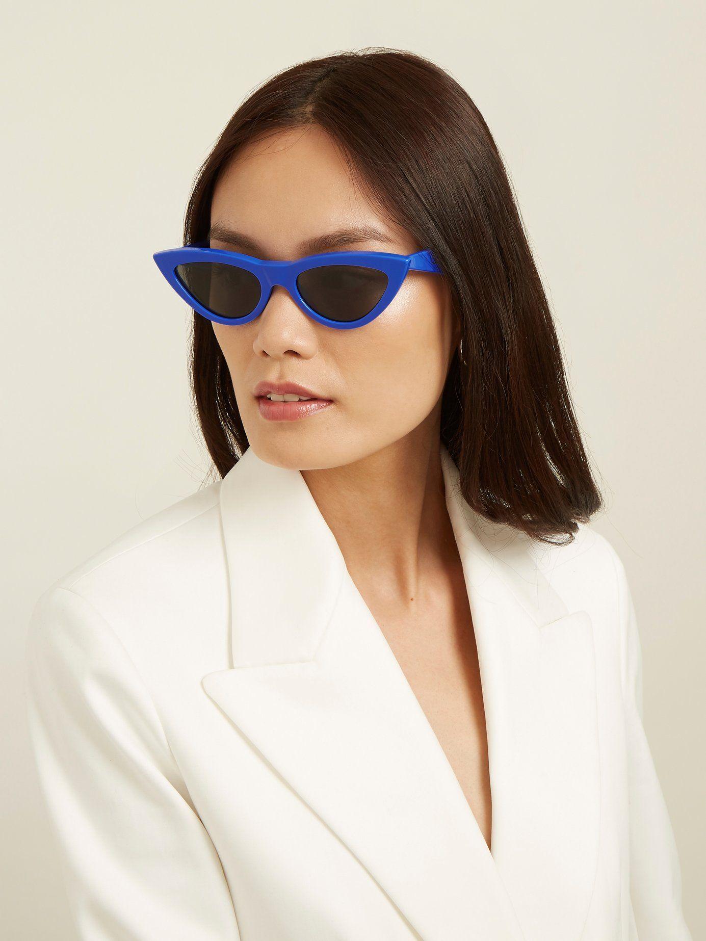 Lunettes de soleil œil-de-chat en acétate Céline Eyewear à commander sur  MATCHESFASHION.COM 089bd6a48845