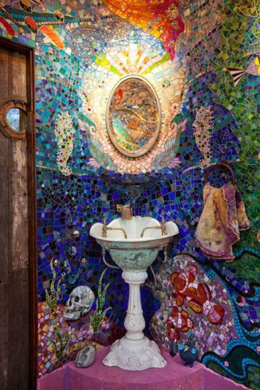 Pretty Colorful Bohemian Bathroom Decor