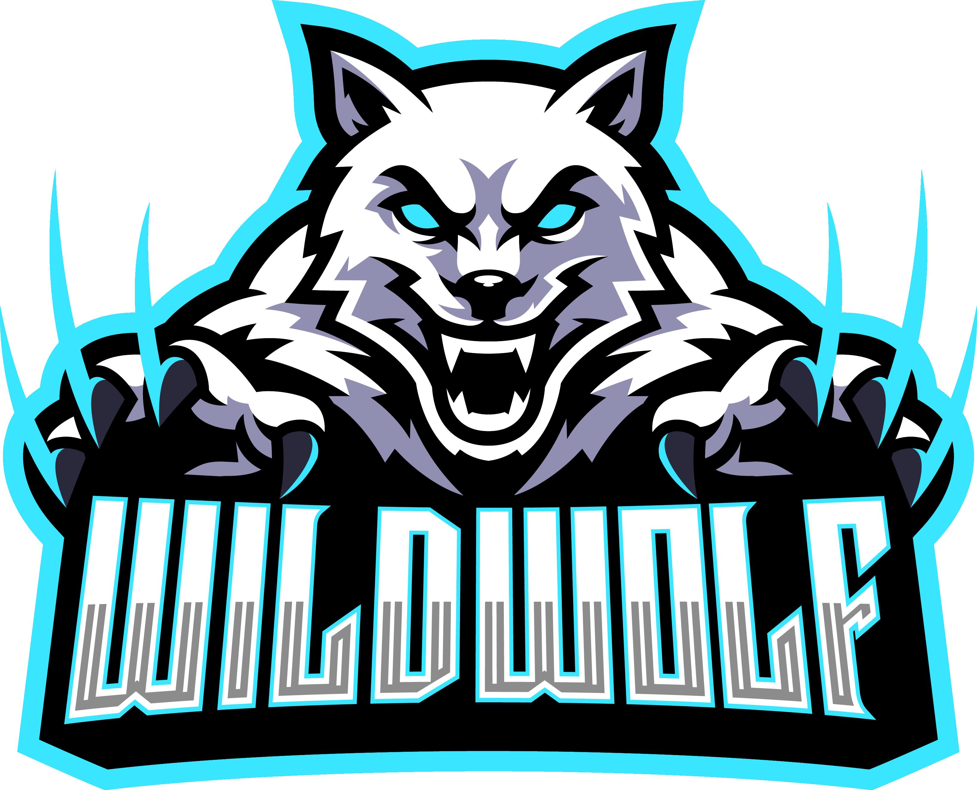 Wild wolf esport mascot logo design By Visink