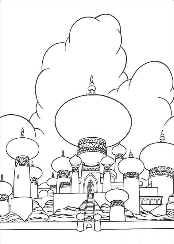 coloriage palais des milles et une nuits bullet journal dessin