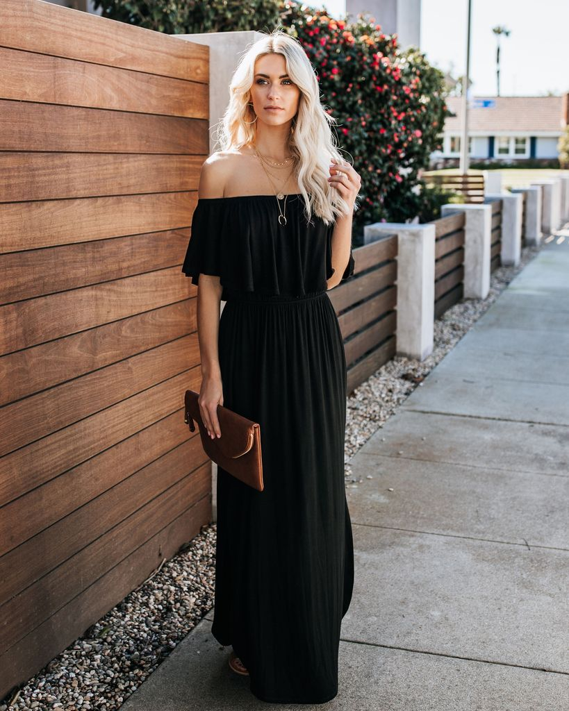 2ff377f54c41 Gloria Off The Shoulder Pocketed Maxi Dress - FINAL in 2019 | VICI ...
