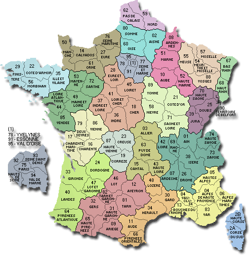 Carte De France Departements Villes Et Regions Carte De France Departement Carte De France Ville Carte De France