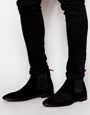0fec0b742c0 ASOS Chelsea Boots in Suede | Outfits | Chelsea boots, Shoes ...
