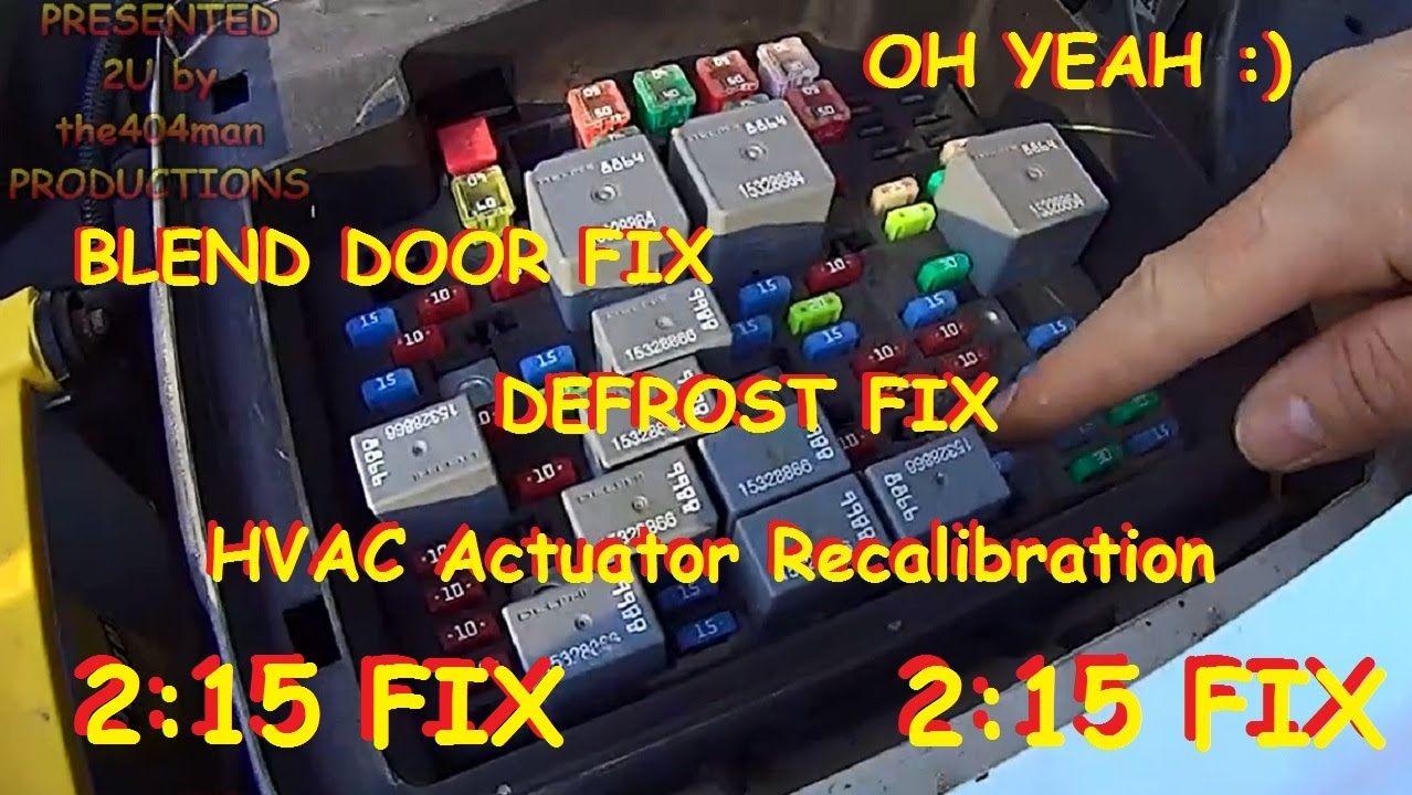Blend Door Fix Chevy Truck Suv Hvac Actuator Recalibration 2003 2014 Youtube Chevy Trucks Trucks Actuator