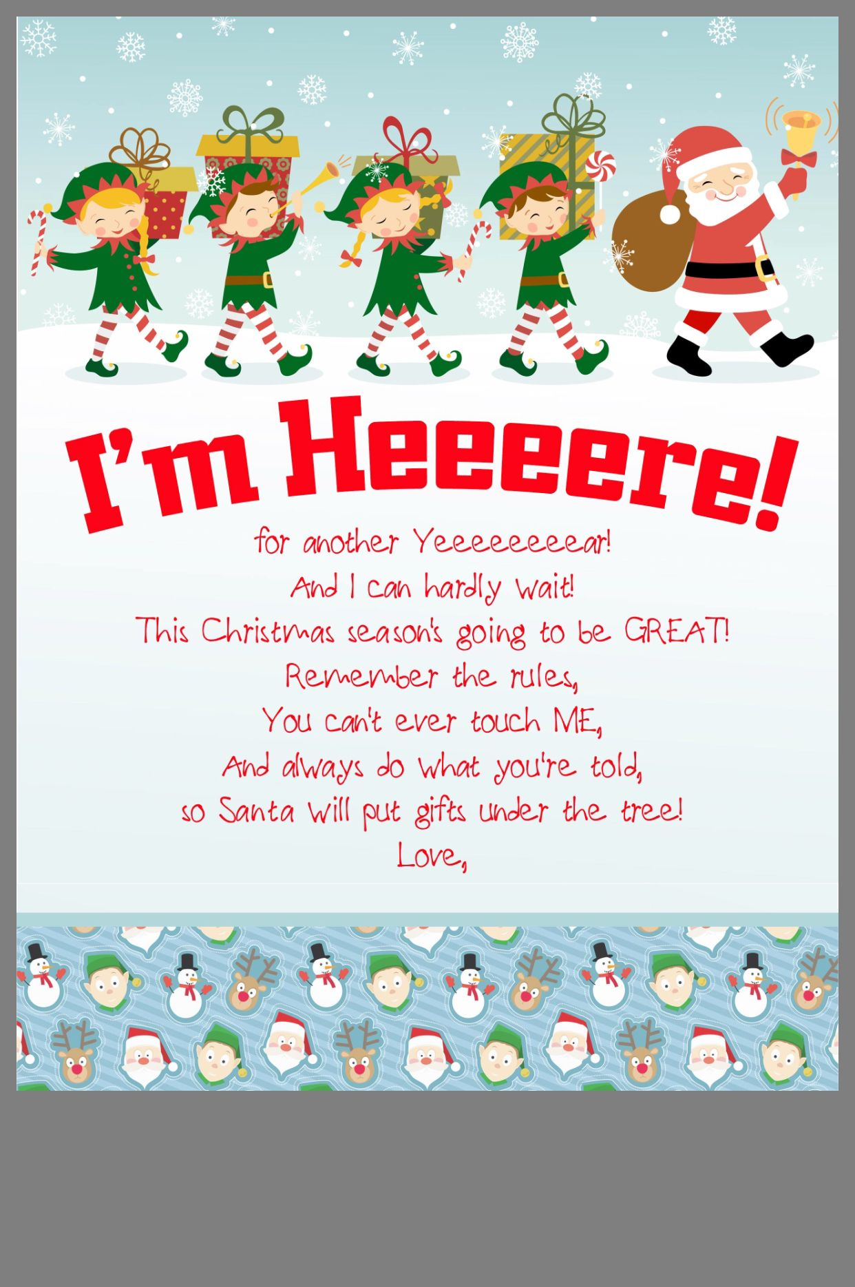 photo relating to Elf on the Shelf Welcome Letter Printable named Pin via Bethany Gorham upon favourite period of calendar year Elf upon