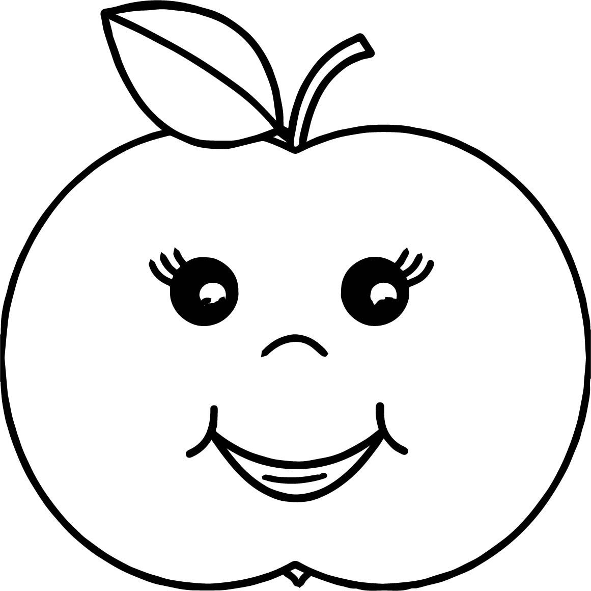 Cool Cartoon Girl Apple Coloring Page Apple Coloring Pages