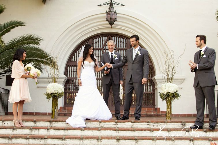 just married santa barbara courthouse fiesta stage wedding kristin renee photographer http