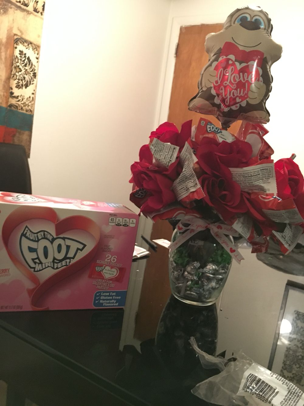 Fruit Roll Up Bouquet For Valentines Day Valentines Day Fruit