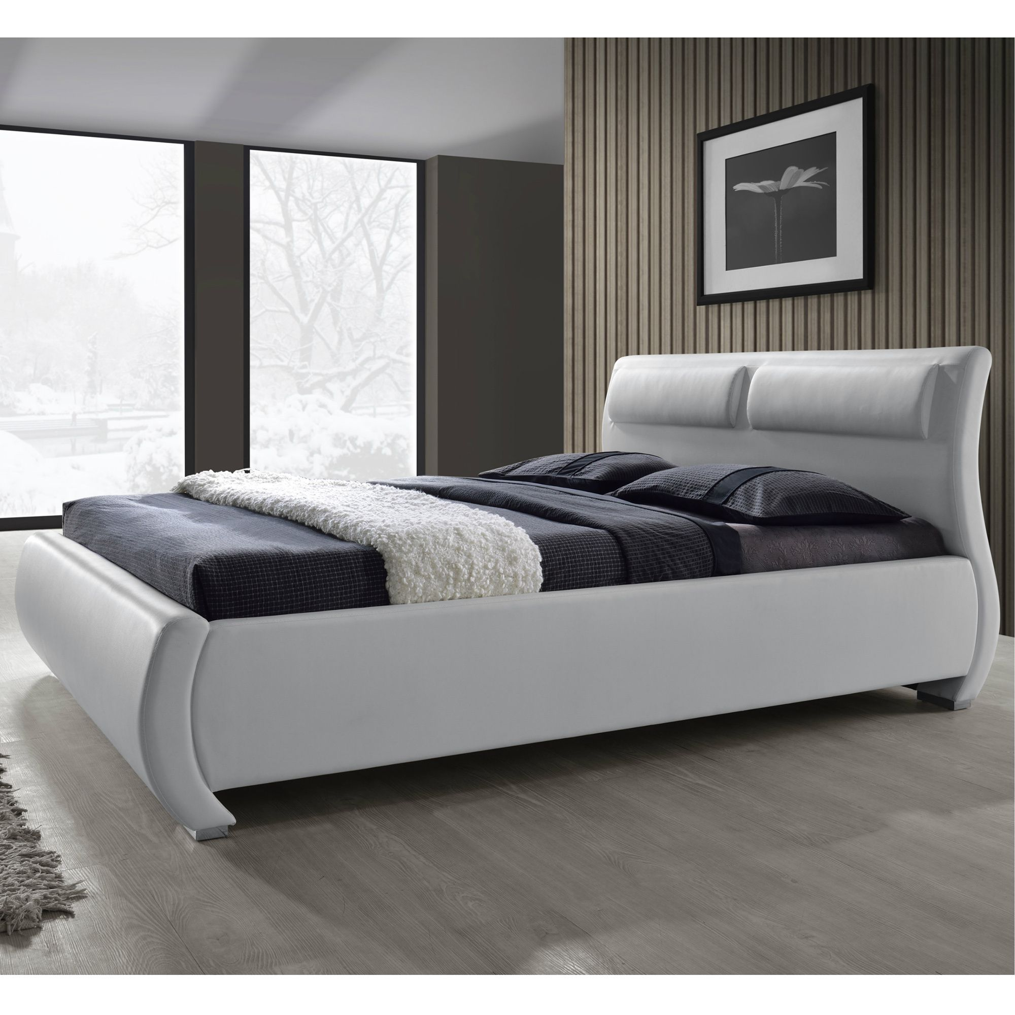 The Modesto bed offers unmistakable style with its S shaped ...