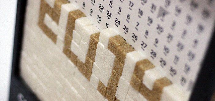 Сахарный календарь - отличная идея для новогоднего подарка от российского дизайнера