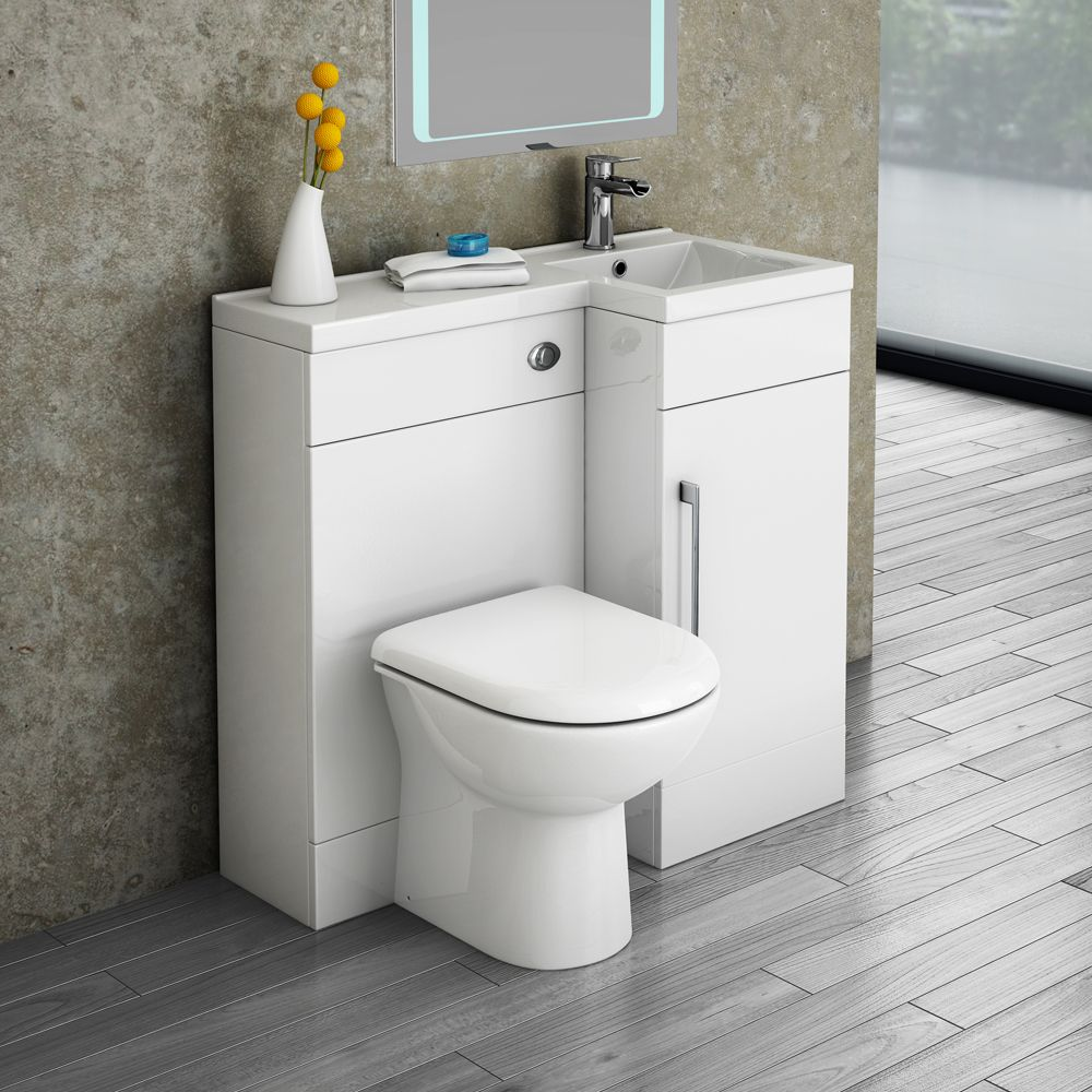 Valencia 900mm combination bathroom suite unit round - Combination bathroom vanity units ...