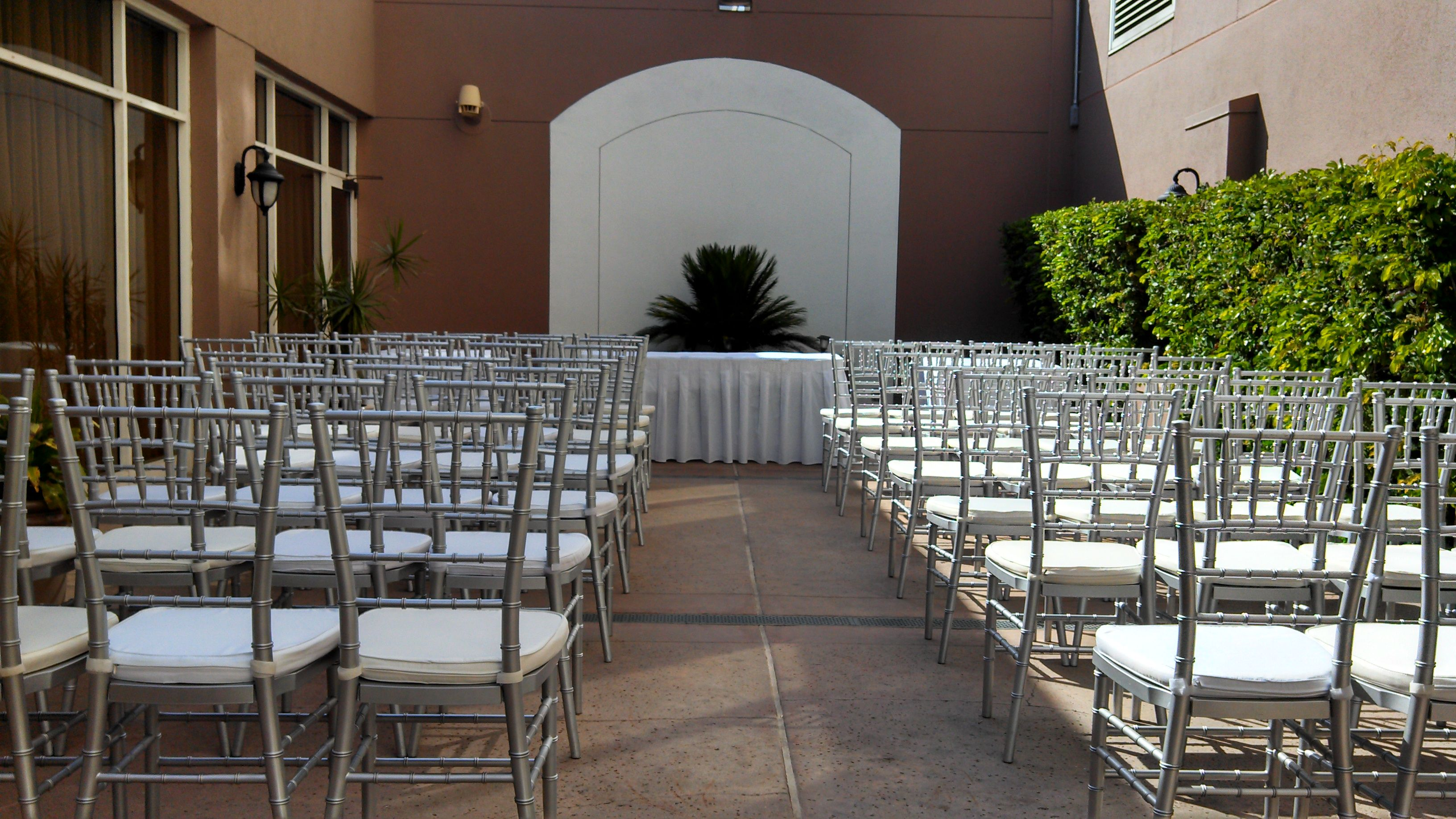 Patio Ceremony - Outside Wedding