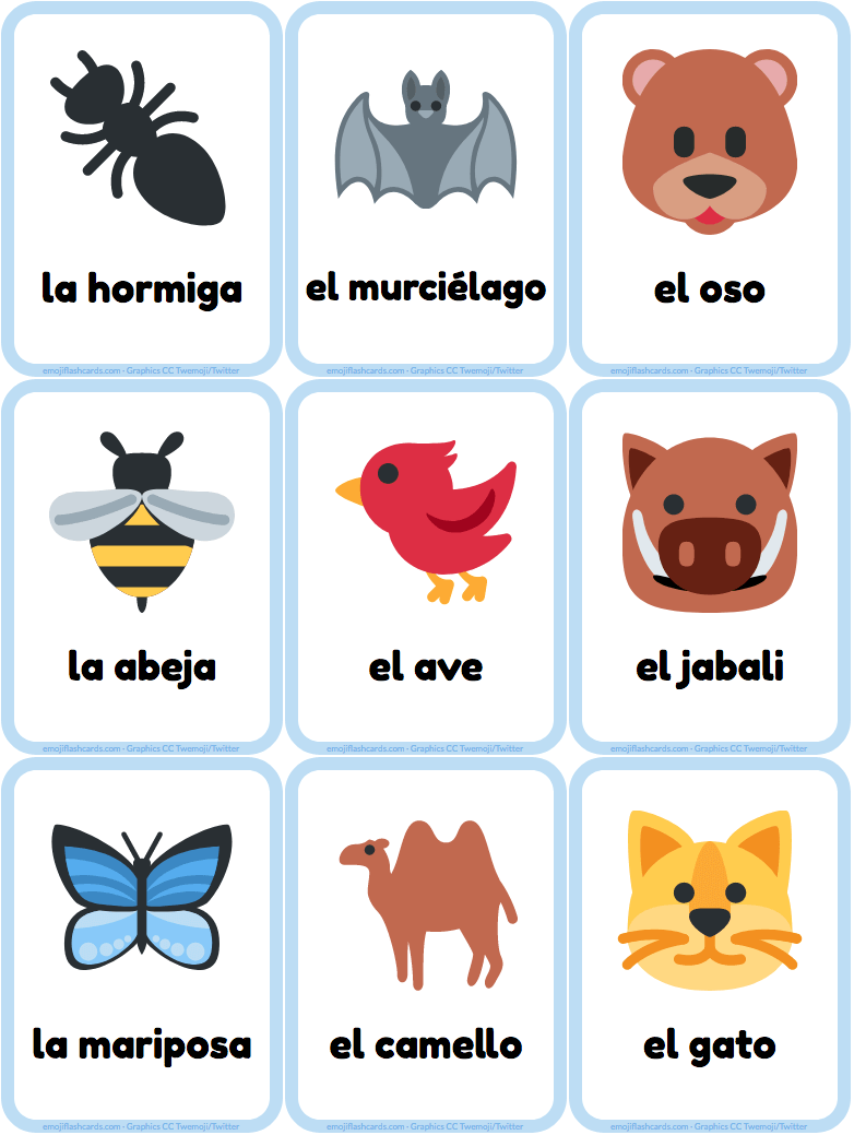 Flashcards Games Children Flashcards Teaching Vocabulary Learning Spanish Learn Portuguese Spanish Flashcards
