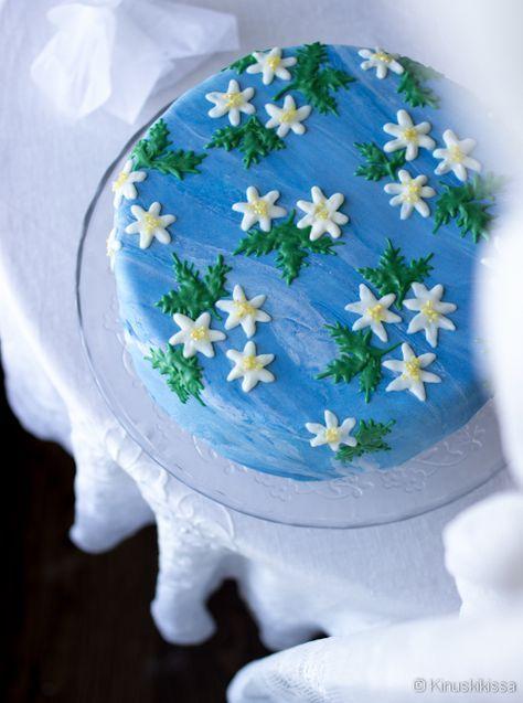 Valkovuokkokakku #äitienpäivä #mothersday #kakku #resepti #leivonta #ohje