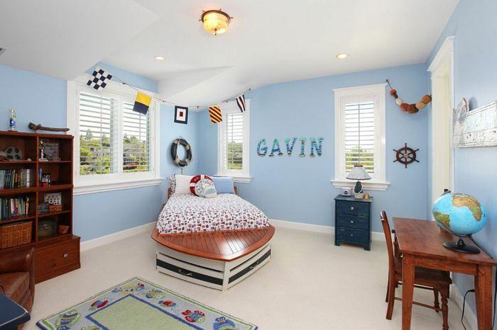 Maritimes Schlafzimmer ~ Kinderzimmer gestalten und dabei maritime elemente einsetzen