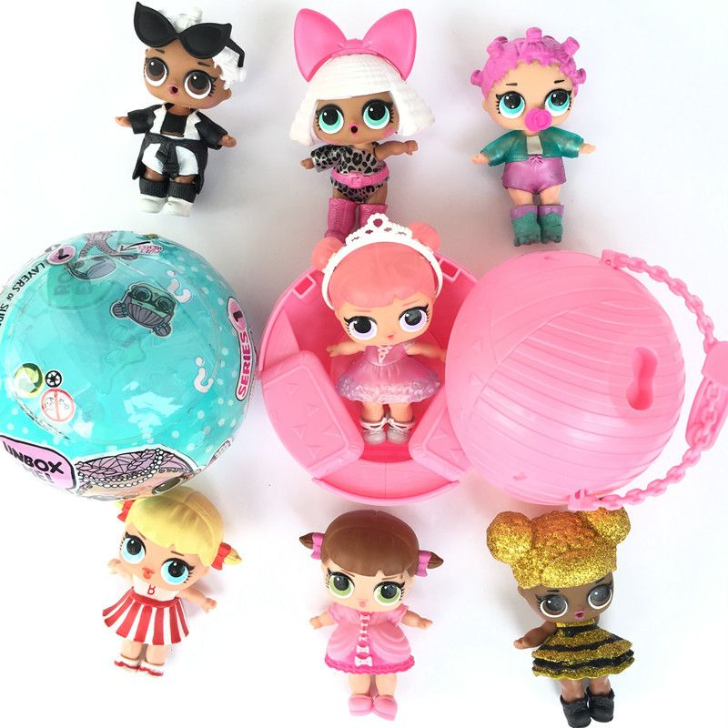 Random delivery 1PCS girls LOL Doll TOY  Baby Color Change  LoL Dolls Action Fig