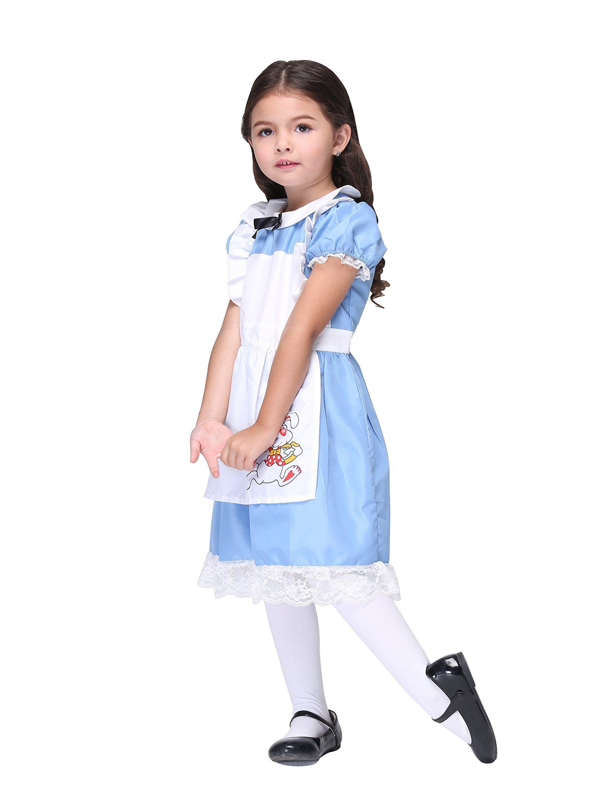22d3eef74b99 Vivihoo EK027 Lil Alice in Wonderland Toddlers Costume Cosplay Dress For Little  Girl M >>> You can find more details by visiting the image link.