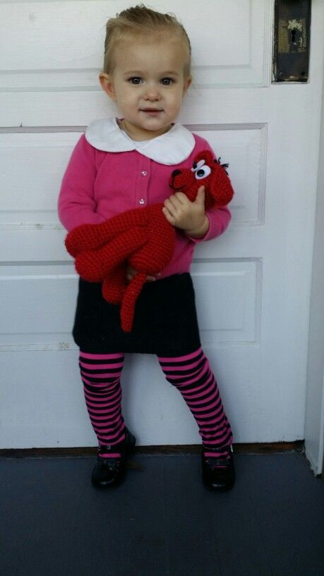 9562222eccc6c Cheap Costume idea for a little girl. Emily Elizabeth from Clifford the Big  Red Dog. Amelia lives this show, so it was perfect for this year, ...