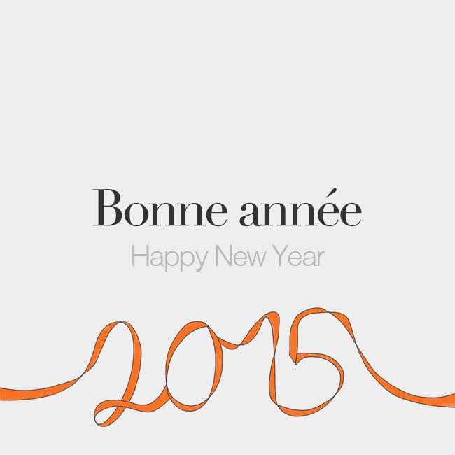 Bonne année | Happy New Year | /bɔ.n‿a.ne/ | français | Pinterest ...