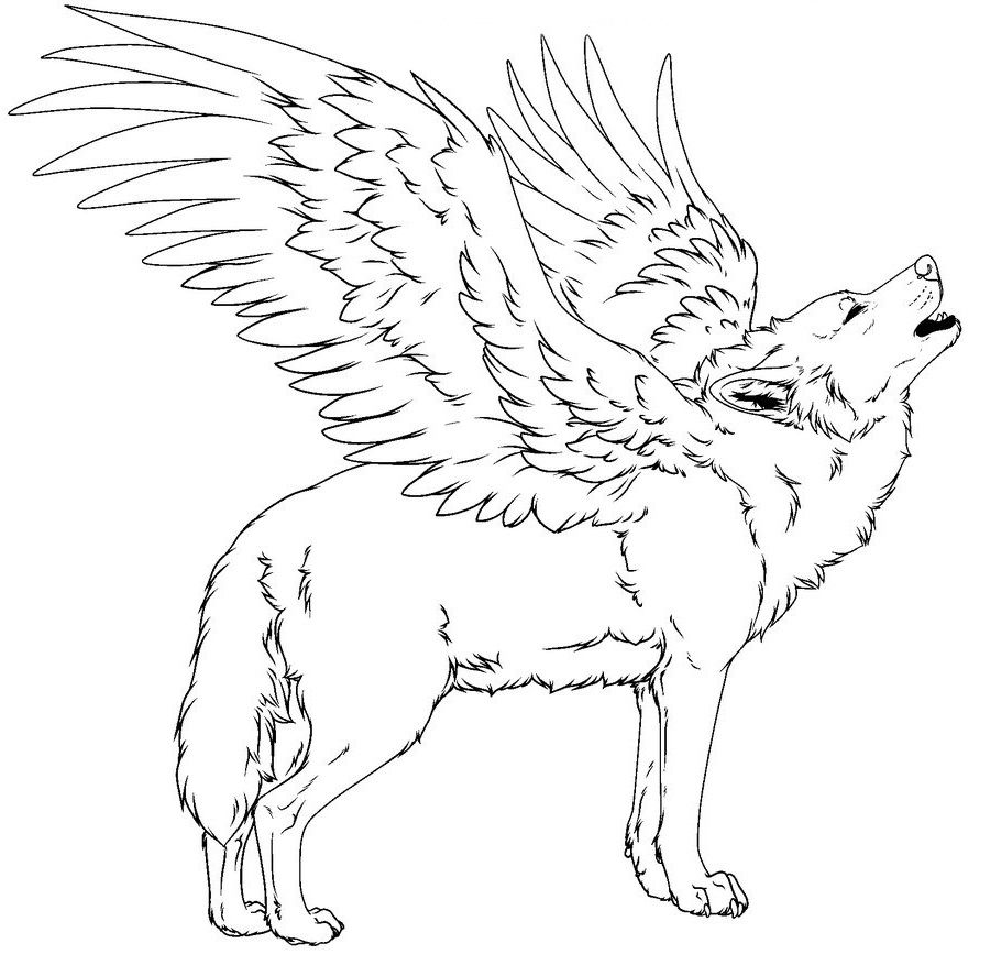 Coloring Rocks Coloring Pages Beautiful Wolves Fantasy Wolf
