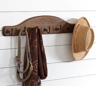 Wood Plaque Row Of Hooks Decorative Wall Hooks Wood