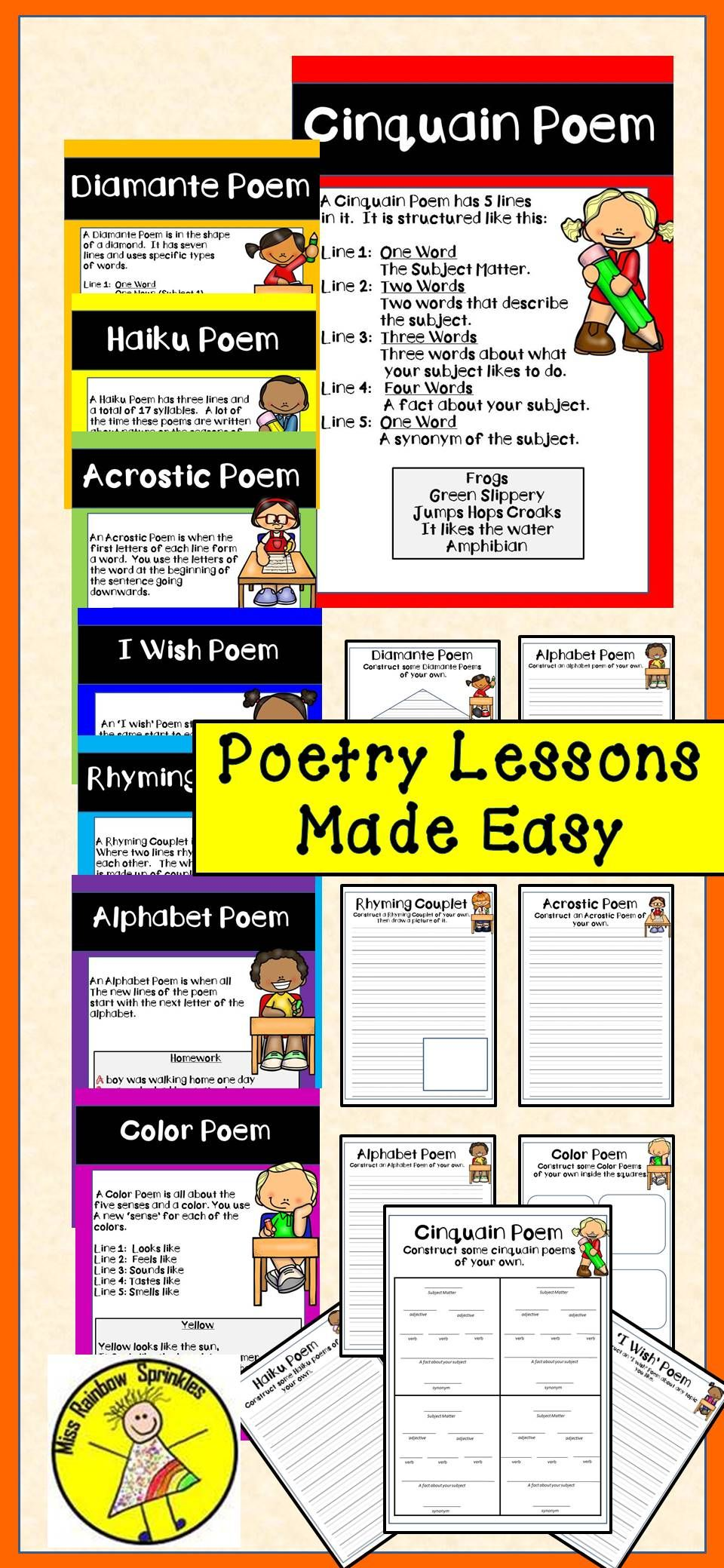 poetry unit with anchor charts educational all stars poetry lessons poetry unit primary. Black Bedroom Furniture Sets. Home Design Ideas