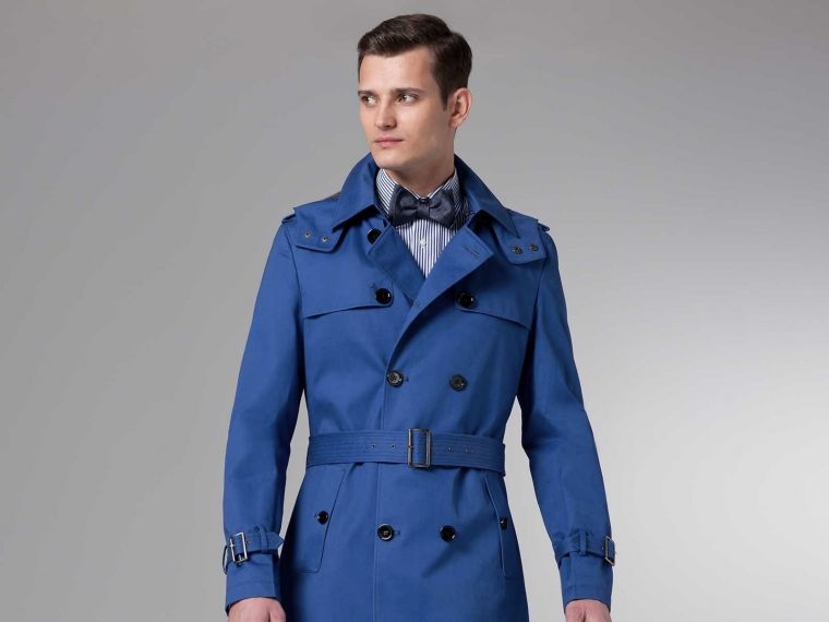 The Ultimate Cobalt Blue Trench Coat | Blue trench coat