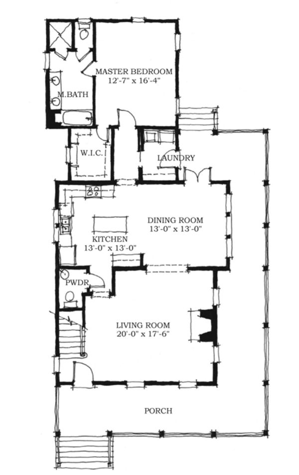 Farmhouse Style House Plan 3 Beds 2 5 Baths 2038 Sq Ft Plan 464 7 Floor Plan Main Floor Plan Farmhouse Style House Plans Southern House Plans Floor Plans