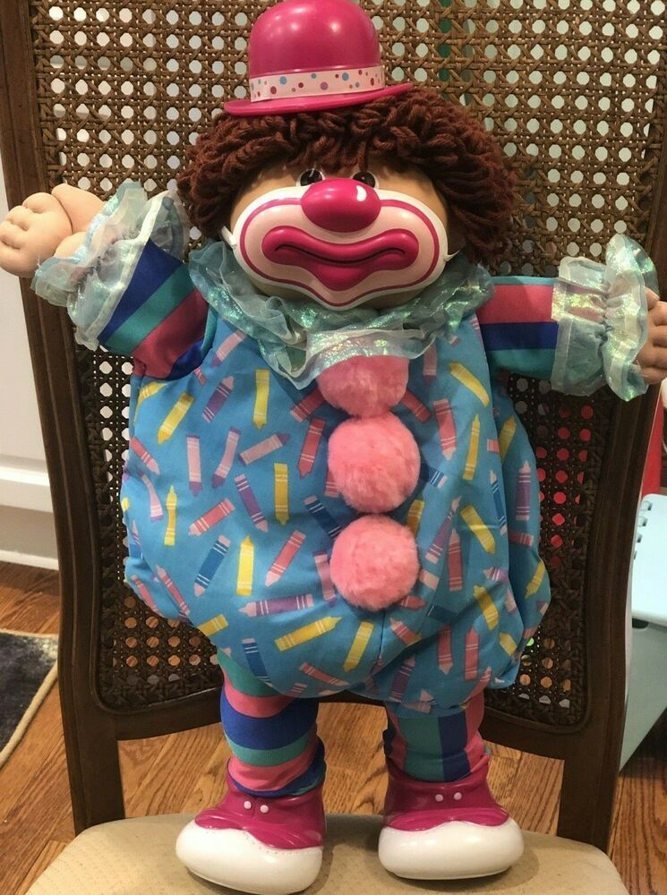 Vintage 1986 Coleco Cabbage Patch Kids Circus Clown Doll Brown Haired Boy Ebay In 2020 Cabbage Patch Kids Patch Kids Cabbage Patch