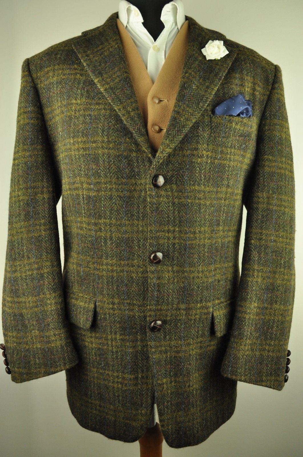 offrir des rabais design intemporel style top Stunning Harris Tweed jacket in a textured green cloth with ...