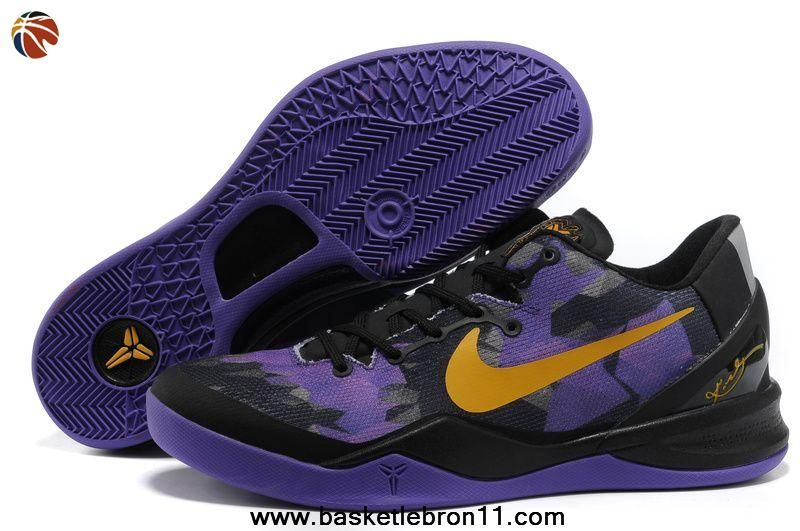 Black Purple Yellow Nike Zoom Kobe 8 (VIII) Discount