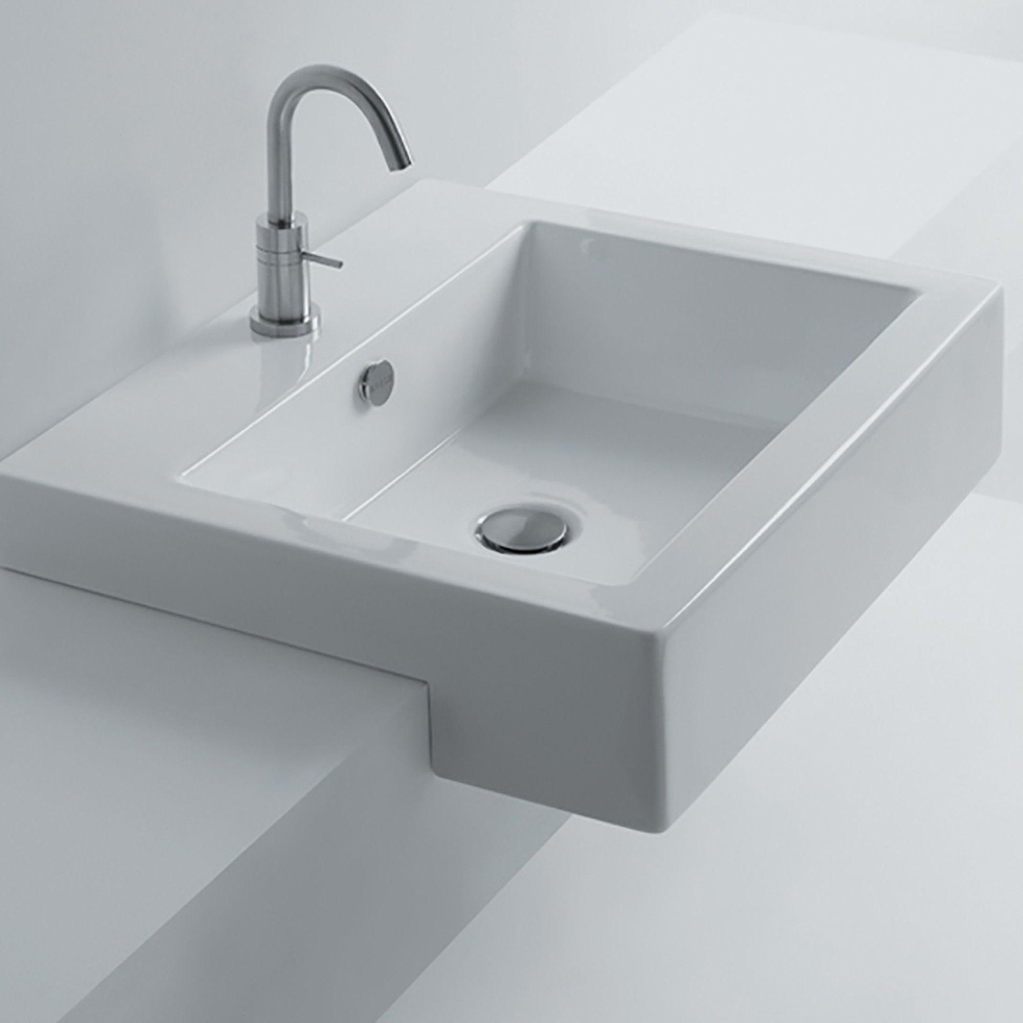 Whitestone Ceramic Square Drop In Bathroom Sink With Overflow Drop In Bathroom Sinks Sink Bathroom Sink Design