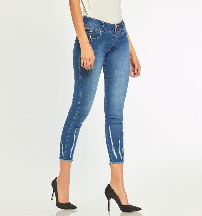 Jeans Ultraslim Con Ruedo Rustico Detalle Vertical En Bota Ropa Moda Moda De Ropa