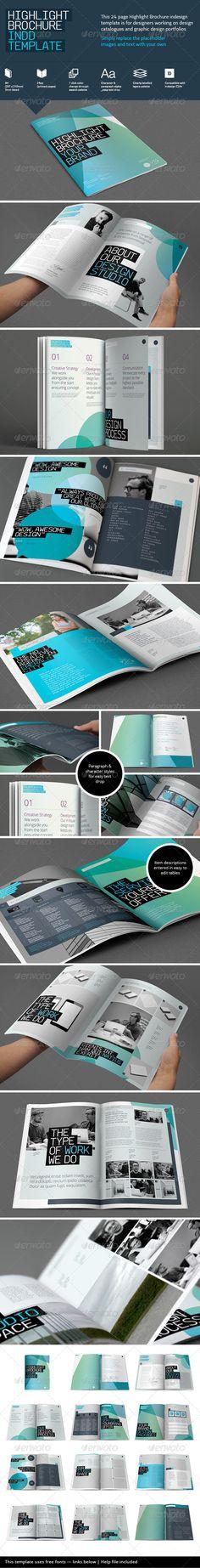 Highlight Brochure Template Brochures Print Templates Brand Book - Print brochure templates