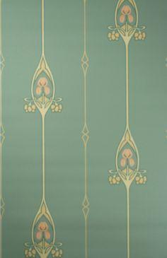 Jugendstil Tapete Art Nouveau Wallpaper Pattern Paper