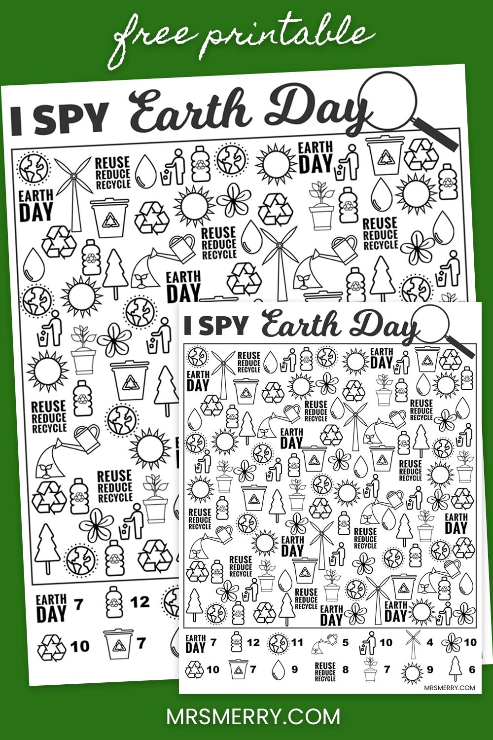 Free Kids Printable I Spy Earth Day Activity Mrs Merry Earth Day Activities Free Activities For Kids Activity Sheets For Kids [ 1500 x 1000 Pixel ]