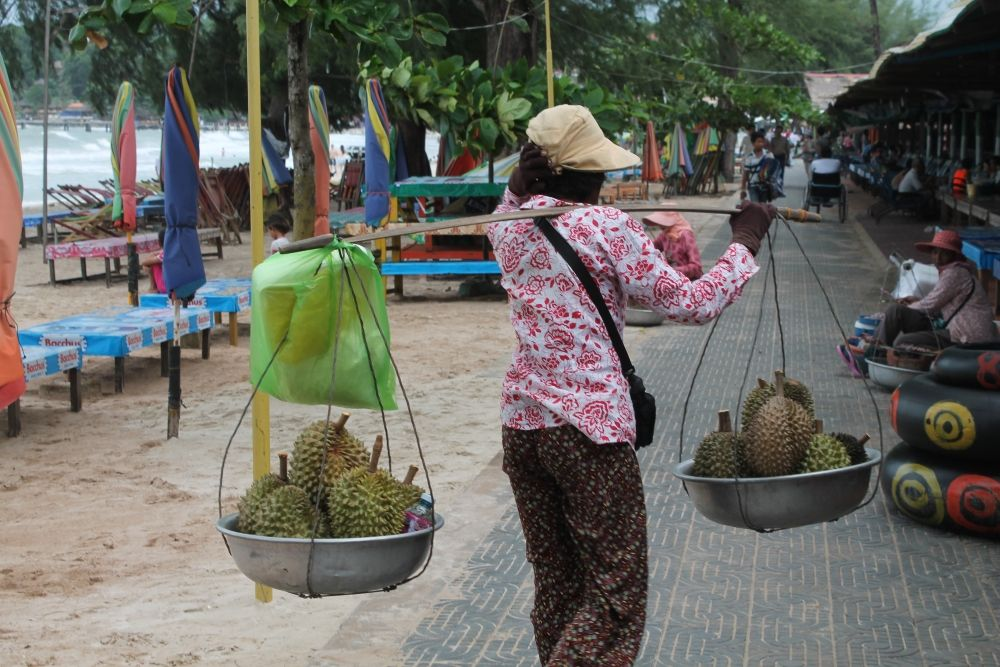 OK, not really my favourite, cos Durian stinks! Stromy celebration in Sihanoukville http://www.tammyandchrisonthemove.com