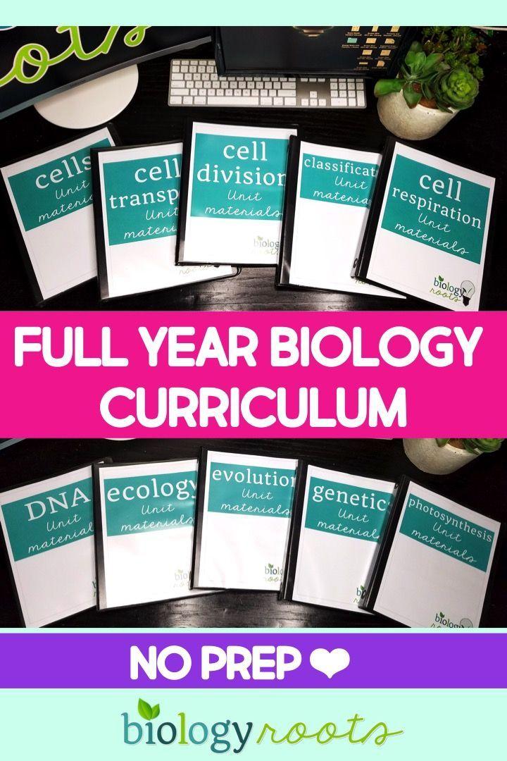 Biology Curriculum Bundle Teaching Stuff Biology Lessons