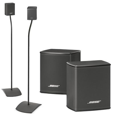 Bose Virtually Invisible 300 Wireless Surround Speakers W Ufs 20 Floor Stands Bundle Wireless Surround Speakers Surround Speakers Speaker Stands